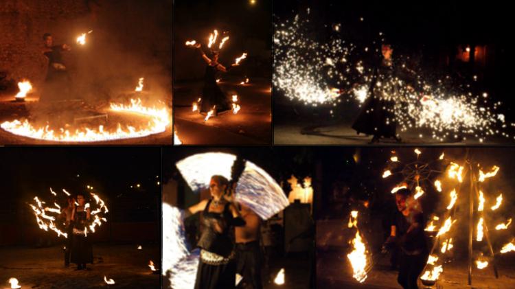Spectacle de feu et jonglerie feu