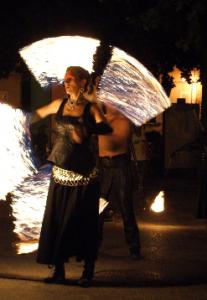 Spectacle de feu de cirque indigo provence PACA cordes enflamés