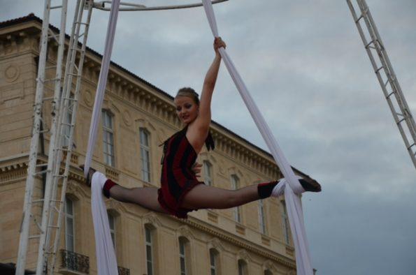 artiste acrobatie Tissu aérien