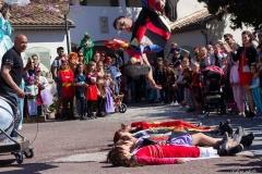 acrobatie spectacle pour animation de rue cirque indigo
