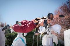 animation de rue acrobatie de cirque indigo