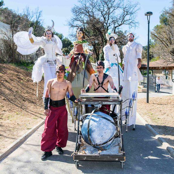 parade carnaval 4 quatre éléments cirque indigo
