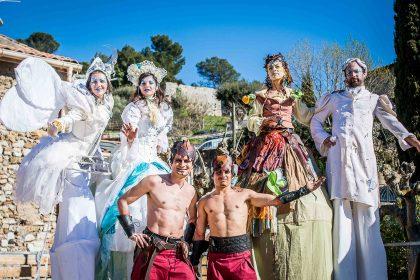 parade carnaval quatre éléments