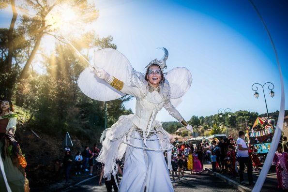 parade carnaval et animation de rue echassier blanc
