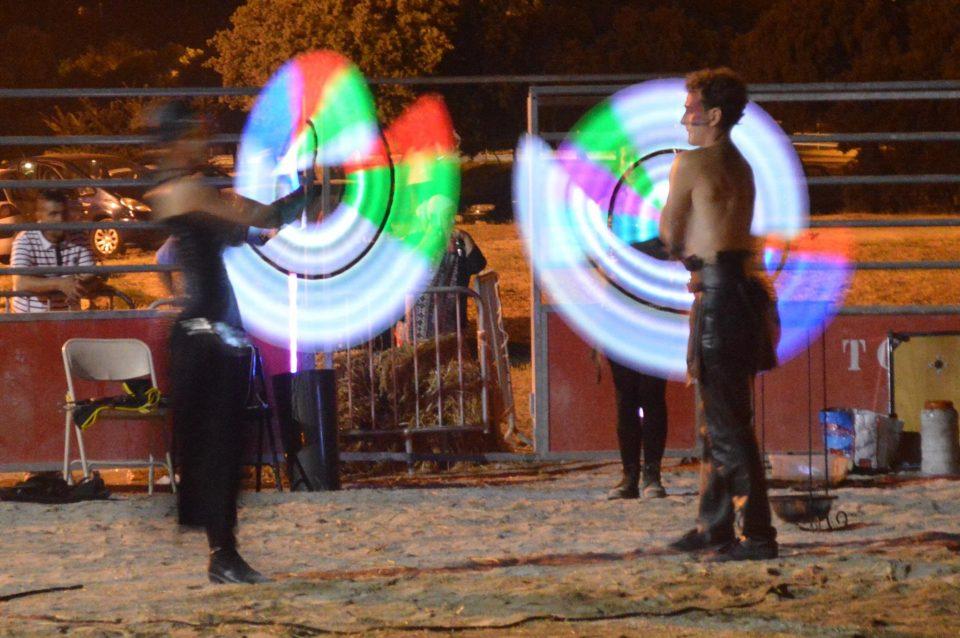 spectacle de feu et lumineux en PACA