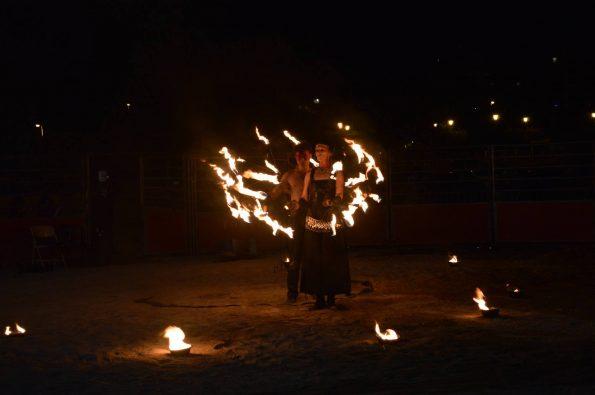 spectacle de feu et lumineux PACA