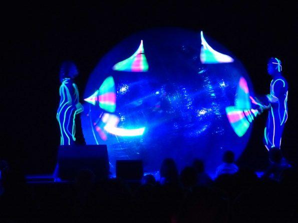 Spectacle lumineux bulle géante