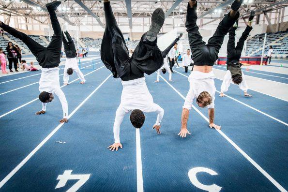 acrobatie pour inauguration de stade couvert d'athlétisme à MIRAMAS 13