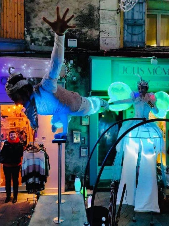 Parade lumineuse pour marché de Noël 84