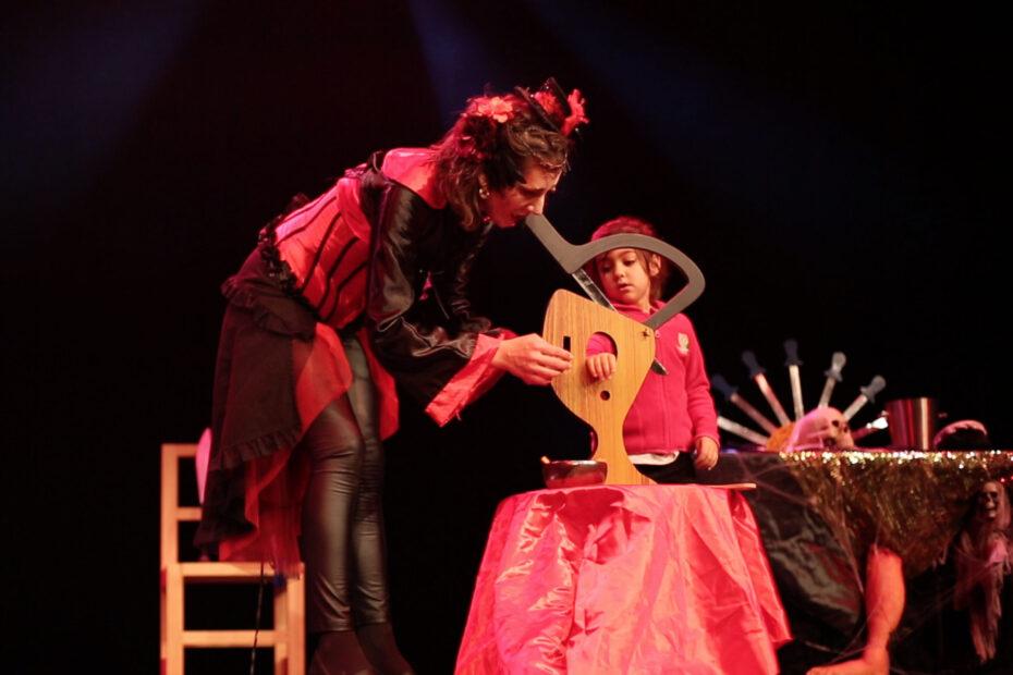 Spectacle enfants Halloween magie cirque indigo
